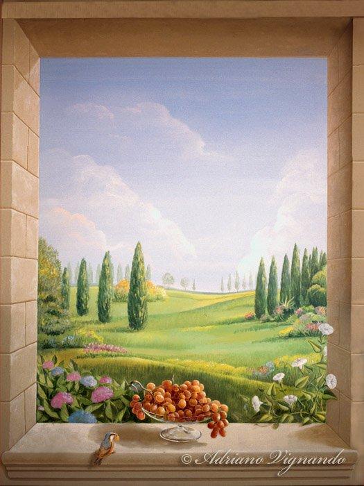 affreschi murali finestre finte : Trompe-loeil di finte finestre - Finestre